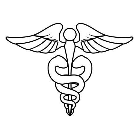 urgency: Isolated caduceus emblem icon illustration graphic design.