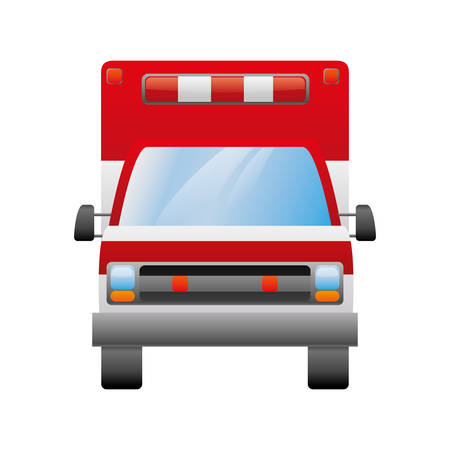 responding: isolated ambulance truck icon vector illustration graphic design