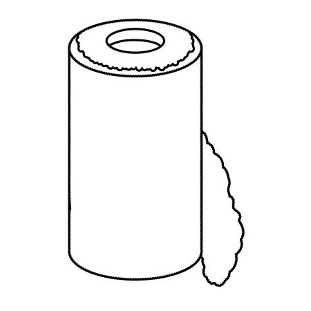 sheet of paper: isolated paper towel roll icon vector illustration graphic design