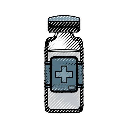 pill prescription: isolated medicine liquid bottle icon vector illustration graphic design
