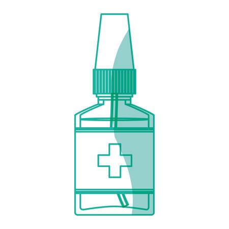 dosage: Isolated medicine liquid bottle icon vector illustration graphic design Illustration