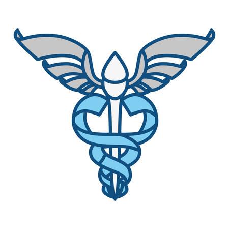 urgency: Isolated caduceus emblem icon vector illustration graphic design