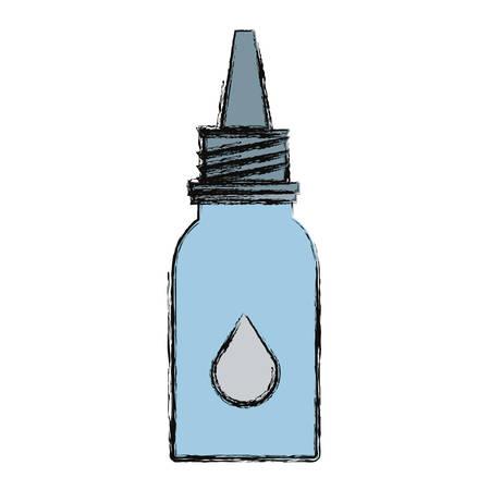 Medicine eye drop bottle icon vector illustration graphic design