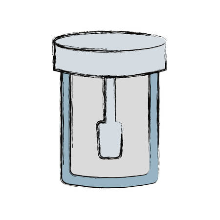 Isolated laboratory test bottle icon vector illustration graphic design