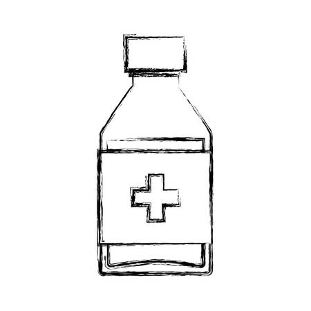 Isolated medicine liquid bottle icon vector illustration graphic design Ilustracja
