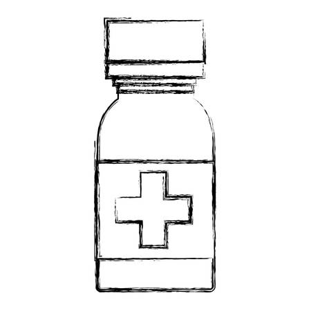 dosage: isolated medicine liquid bottle icon vector illustration graphic design