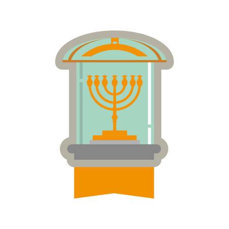 Jewish Chandelier menorah icon vector illustration graphic design Ilustracja