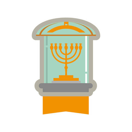 Jewish Chandelier menorah icon vector illustration graphic design Illustration