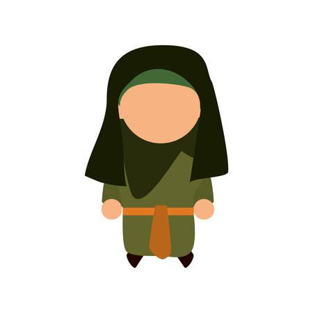 israel people: jew woman shayla icon vector illustration graphic design Illustration