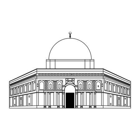 Moskee van het grafische ontwerp van de rotspictogram vectorillustratie Vector Illustratie