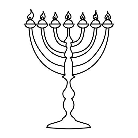 Jewish Chandelier menorah icon vector illustration graphic design Illustration