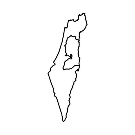 map of israel icon vector illustration graphic design
