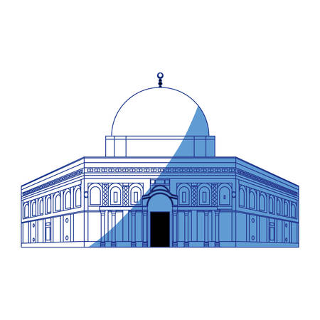 dome of the rock: Mosque of the rock icon vector illustration graphic design
