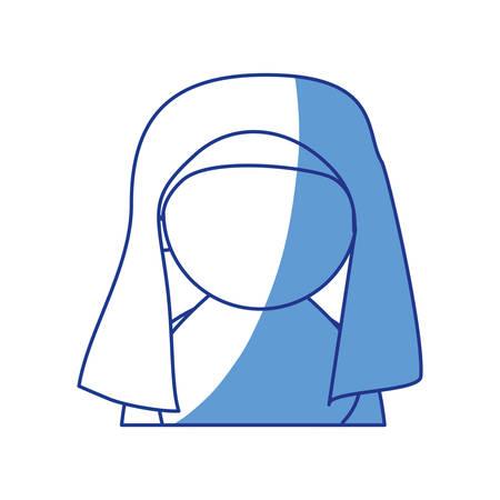 jew woman shayla icon vector illustration graphic design Illustration