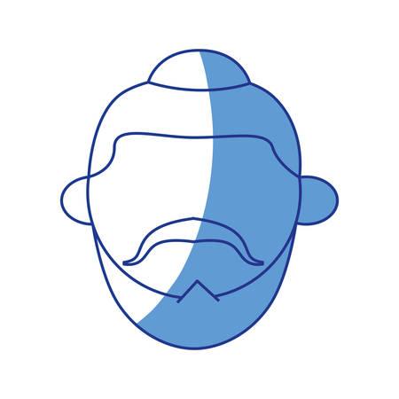 Jew using kipa icon vector illustration graphic design Illustration