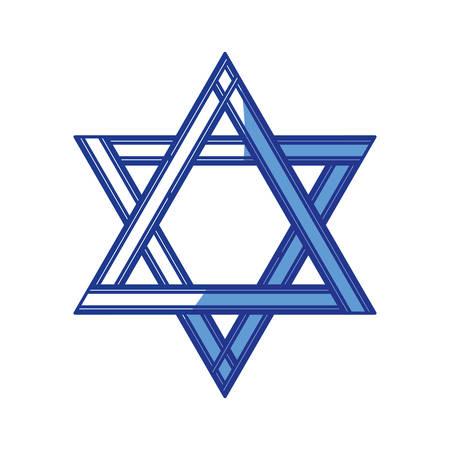 biblical: star of david icon vector illustration graphic design