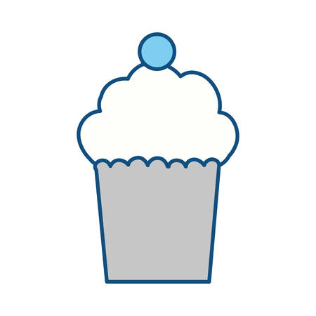 cupcakes isolated: Delicious cupcake dessert icon vector illustration graphic design