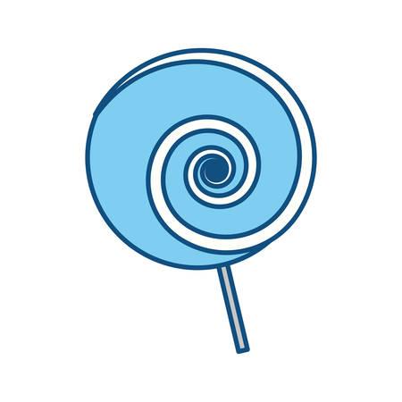 bonbon: Lollipop sweet candy icon vector illustration graphic design
