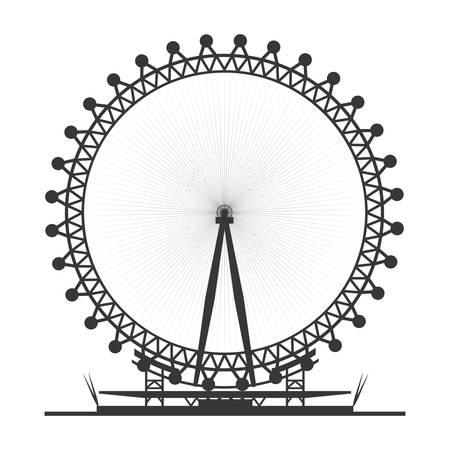 Londen oog symbool pictogram vector illustratie grafisch ontwerp