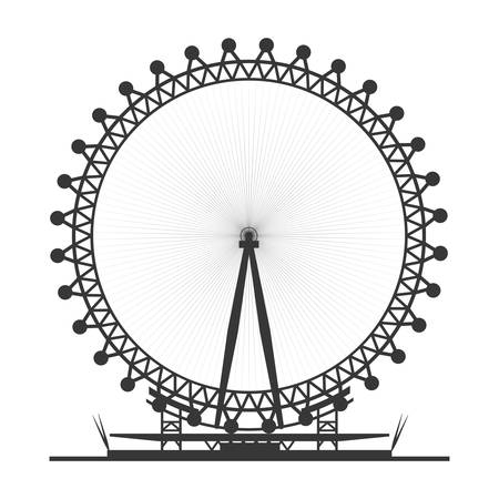 London eye symbol icon vector illustration graphic design