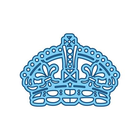 Queen Crown Symbol Icon Vector Illustration Graphic Design Royalty