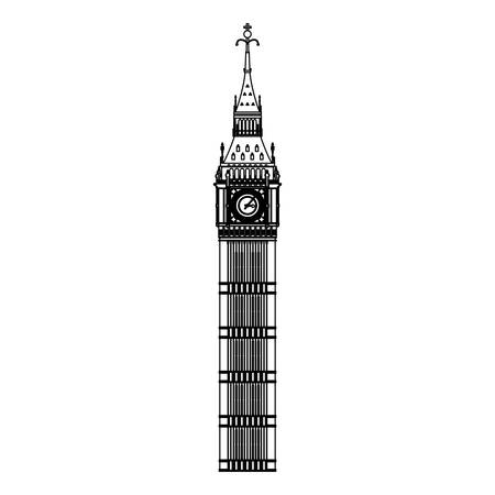 fag: Big ben clock icon vector illustration graphic design Illustration