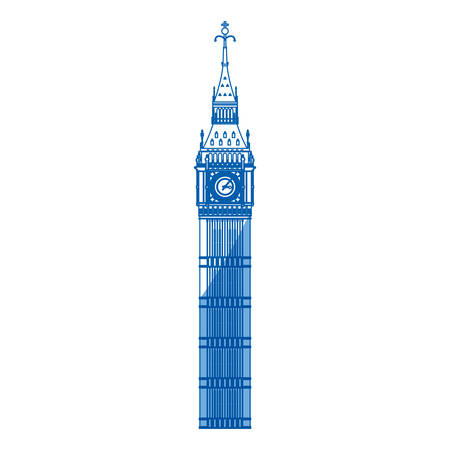 european culture: Big ben clock icon vector illustration graphic design Illustration