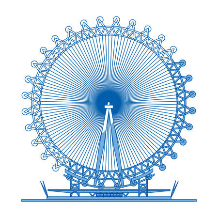 London eye symbol icon vector illustration graphic design
