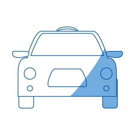 city lights: Taxi cab vehicle icon vector illustration graphic design Illustration