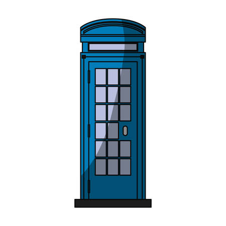call history: Telephone box isolated icon vector illustration graphic design Illustration