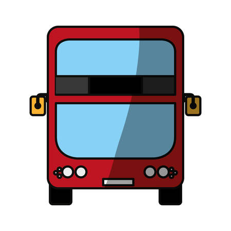 Modern london bus icon vector illustration graphic design Illustration