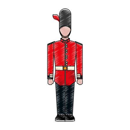 England classic soldier icon vector illustration graphic design