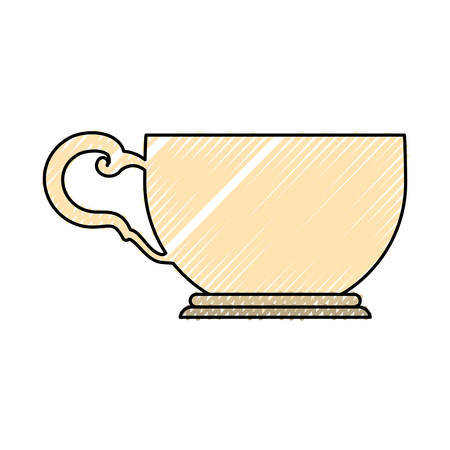 ware: Tea cup isolated icon vector illustration graphic design