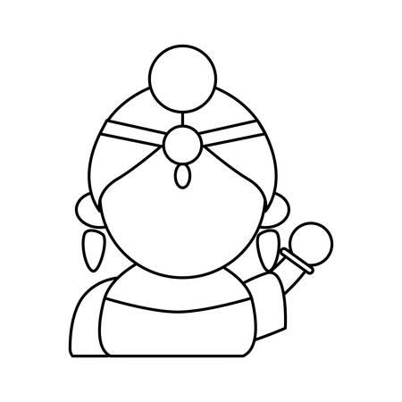 Indian woman cartoon vector illustration graphic design