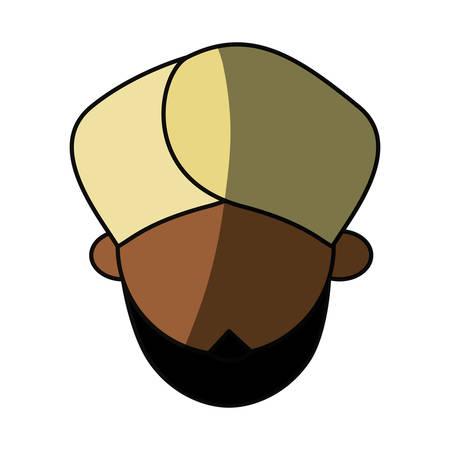 Indian ethic man cartoon vector illustration graphic design