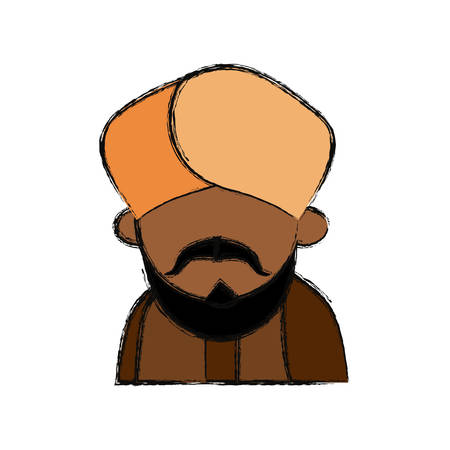 tunic: Indian ethic man cartoon vector illustration graphic design