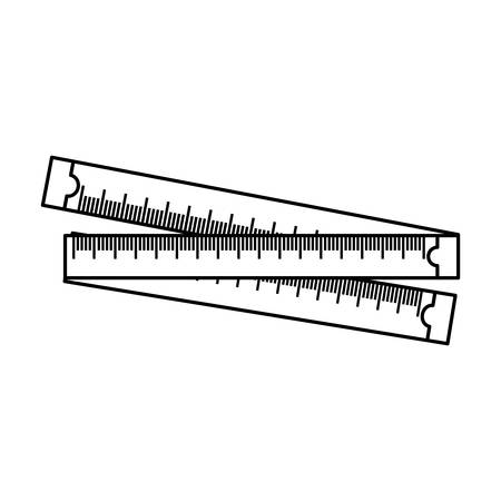 Meter body measurement icon vector illustration graphic design