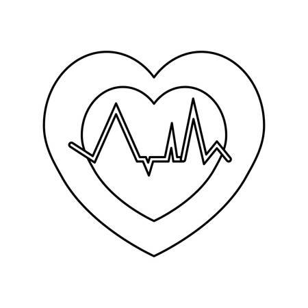 metrics: Heartbeat count red icon vector illustration graphic design Illustration