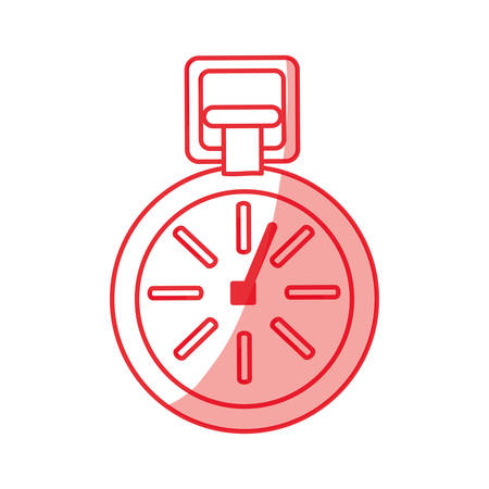 heart beats: Heartbeat count red icon vector illustration graphic design Illustration