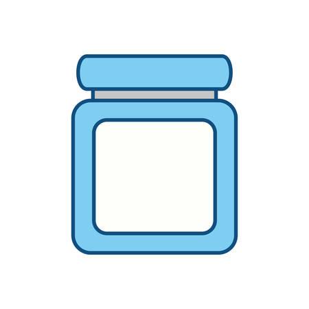 dosage: Jar pills heartly icon vector illustration graphic design Illustration
