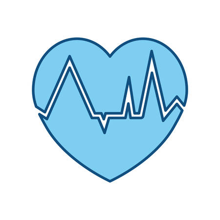Heartbeat count red icon vector illustration graphic design Illustration