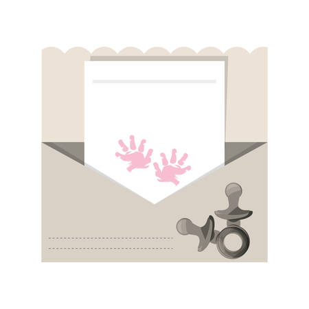 Baby shower card icon vector illustration graphic design