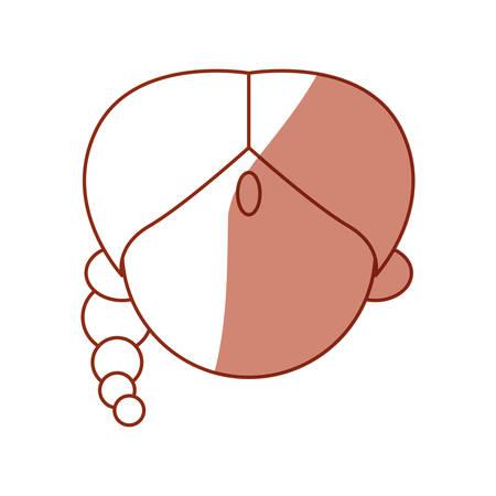 Indian womans face avatar cartoon icon vector illustration graphic design.