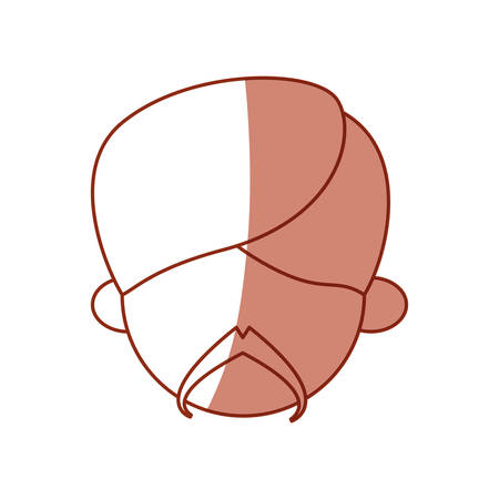 Indian ethnic mans face avatar cartoon icon vector illustration graphic.