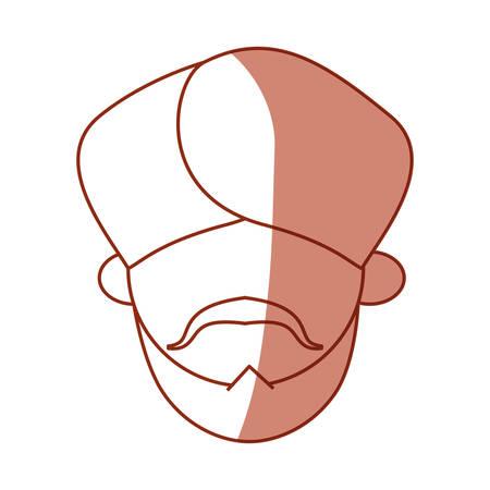 tunic: Indian ethic man cartoon icon vector ilustration graphic Illustration