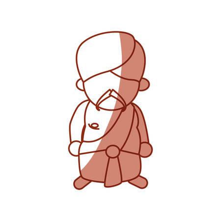 An Indian ethic man avatar cartoon icon vector illustration graphic. Illustration