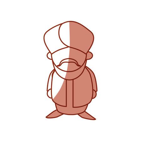 An Indian ethic man cartoon avatar icon vector illustration graphic.
