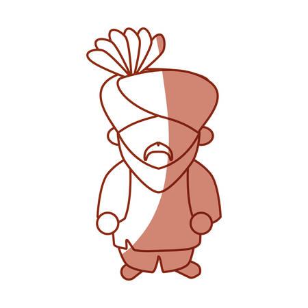 ilustration: Indian ethic man cartoon icon vector ilustration graphic Illustration