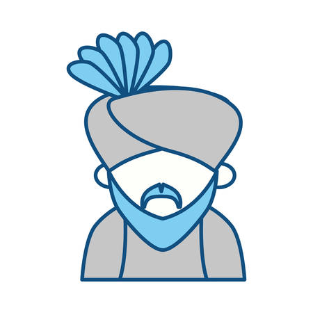 Indian ethic man cartoon icon vector ilustration graphic Illustration