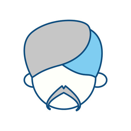Indian ethic man cartoon icon vector illustration graphic design